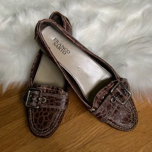"Franco Sarto ""Kody"" loafers with buckle - size 10"